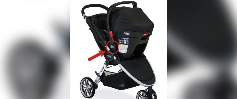 PHOTO: This photo from the Consumer Product Safety Commission shows a recalled Britax stroller.