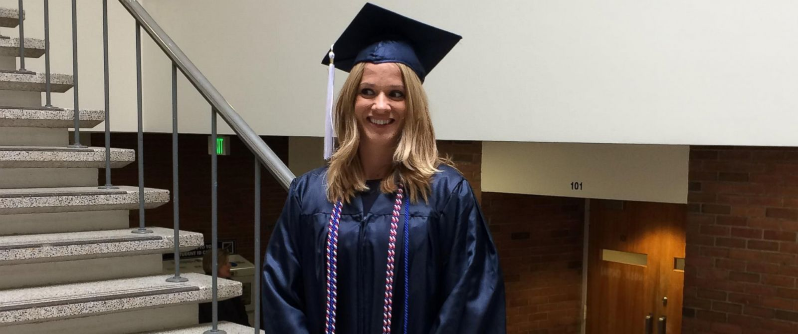 """PHOTO: GMA"""" honored Danielle Joliet, a U.S. Army veteran and mother of two, after she graduated from Pennsylvania State University this year."""