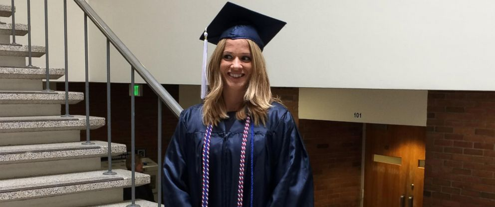 "PHOTO: GMA"" honored Danielle Joliet, a U.S. Army veteran and mother of two, after she graduated from Pennsylvania State University this year."