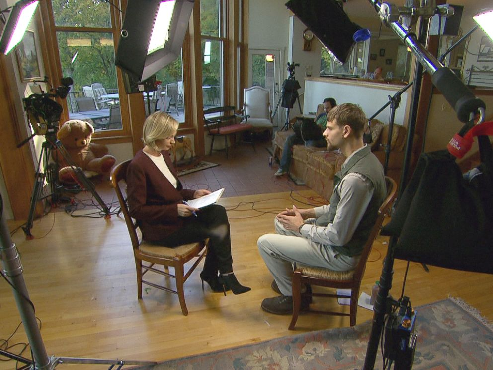 PHOTO: ABC News Linzie Janis speaks to Nathan Carman, who says he wasnt responsible for his mothers death.