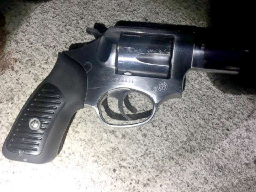 PHOTO: A silver revolver was recovered from the scene of a shooting that left one New York City police officer dead, July 5, 2017.