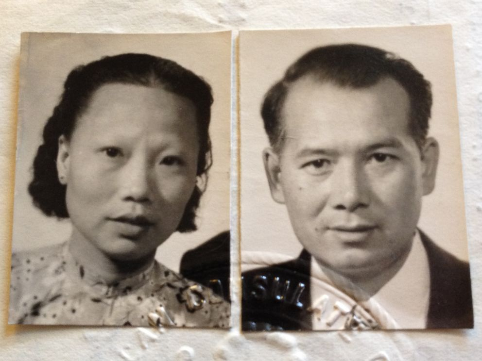 PHOTO: Nick Lees grandmother, Pui-Jen Lee, and grandfather, William Lee.