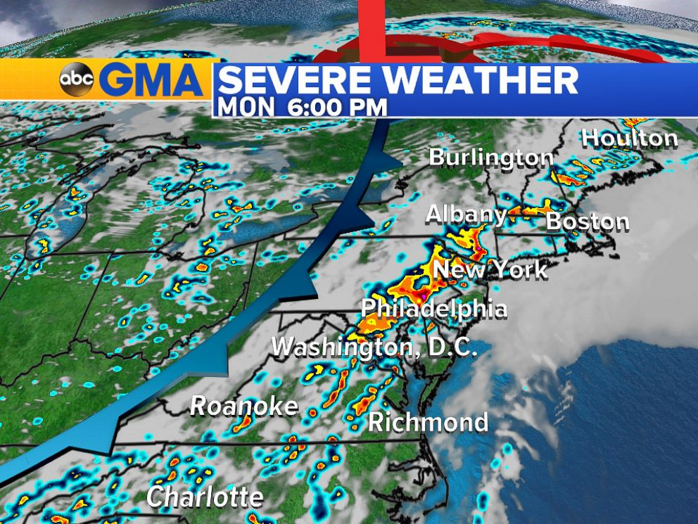 Severe thunderstorms likely during evening commute