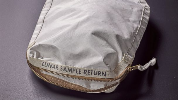 PHOTO: A lunar sample bag that contains moon dust from Apollo 11 will be on auction at Sotheby's in New York on July 20, 2017.