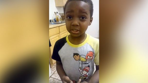 PHOTO: Jeffrey, a 6-year-old boy from St. Louis, calls for an end to violence in a viral Facebook video.