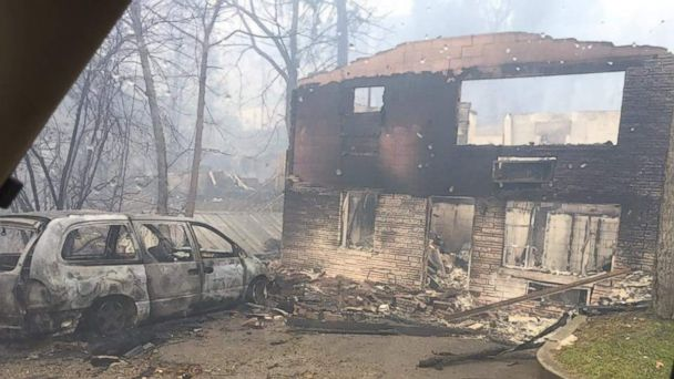 PHOTO: Wildfire damage is seen in the Great Smokey Mountains, Tennessee, Nov. 29, 2016.