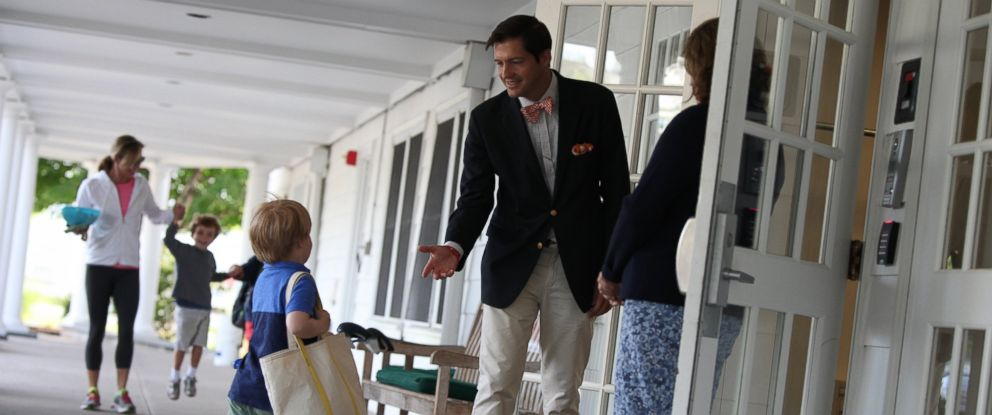 PHOTO: Andrew Niblock, the head of Greenwhich Country Day Lower School School, inspires his community as he continues his job as an educator despite being diagnosed with ALS nearly one year ago.