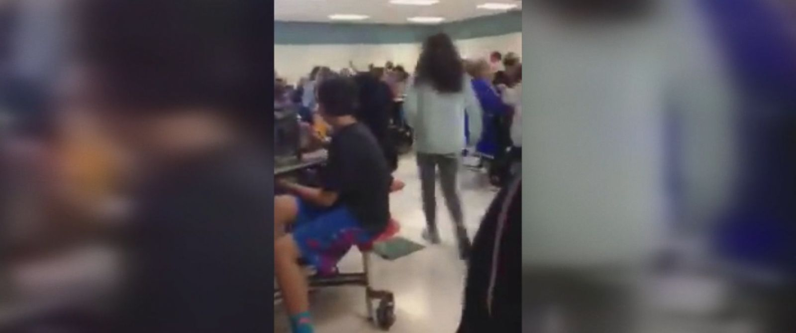 """PHOTO: Middle school students in Michigan allegedly chanted """"build the wall"""" during lunchtime on Wednesday"""