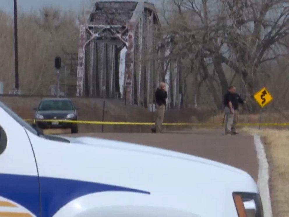 PHOTO: Law enforcement investigate a scene where two bodies were found outside of Colorado Springs, Colo.