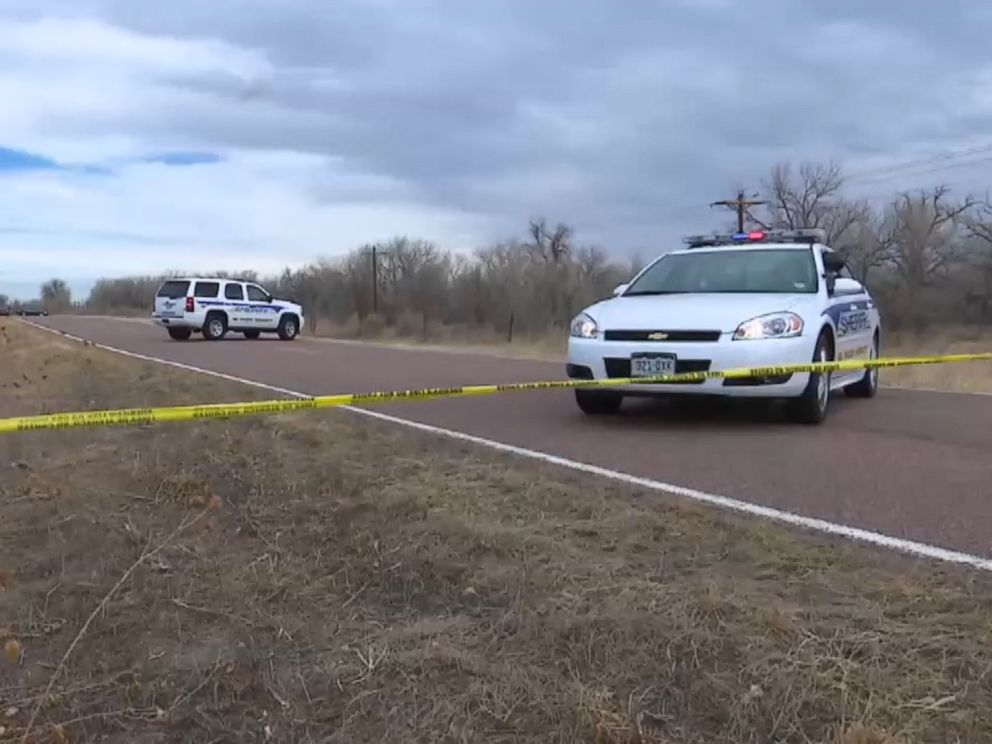 PHOTO: Law enforcement investigate a scene where two bodies were found outside of Colorado Springs, Co.