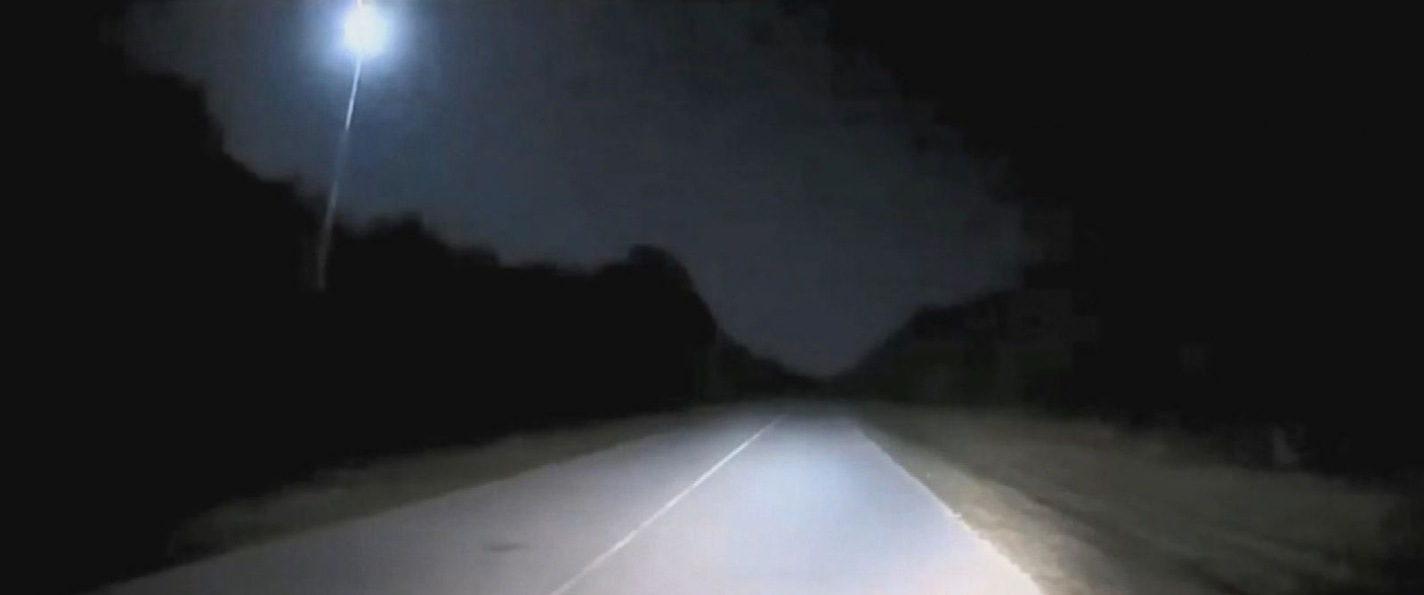 PHOTO: Dashcam video captured a fireball in the sky, Nov. 21, 2016 in Florida.
