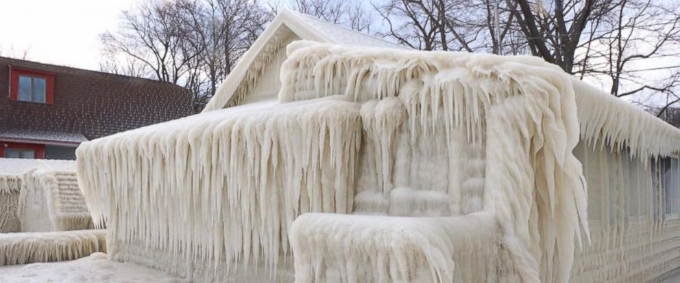 """PHOTO: John Kucko Digital posted this image to Facebook, March 12, 2017, with the caption, """"Frozen! The effects of heavy wind this week along Lake Ontario."""""""