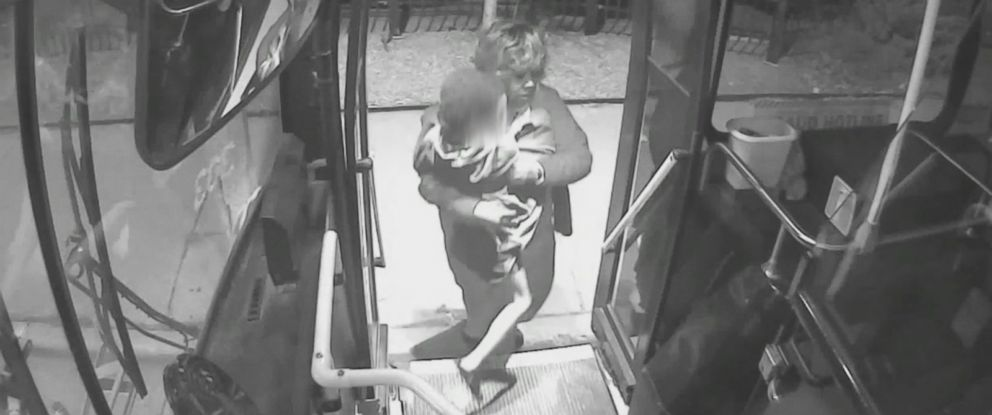 PHOTO: Milwaukee bus driver Denise Wilson was captured on cameras in the early morning hours of Jan. 29, 2017, rescuing a lost child dressed only in pajamas from the cold.