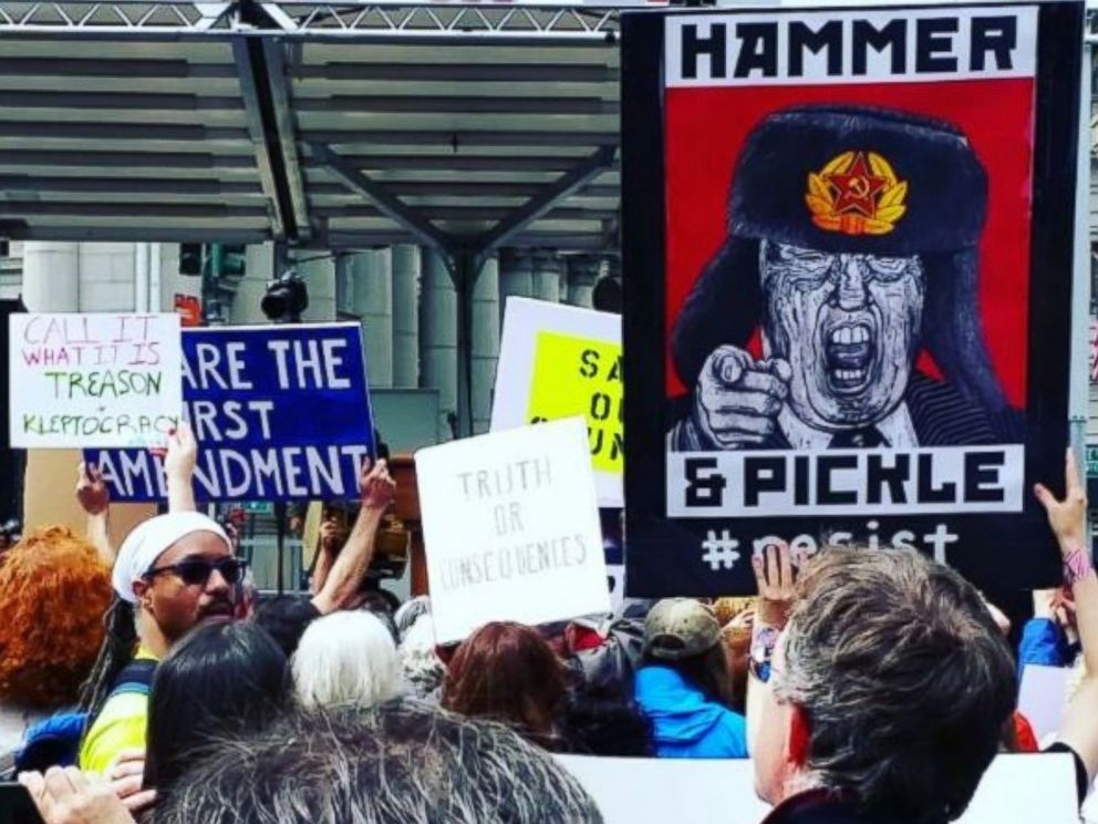 PHOTO: Anthony McGowen posted this image to Instagram on June 3, 2017 with the caption, Live at the ....March for Truth.