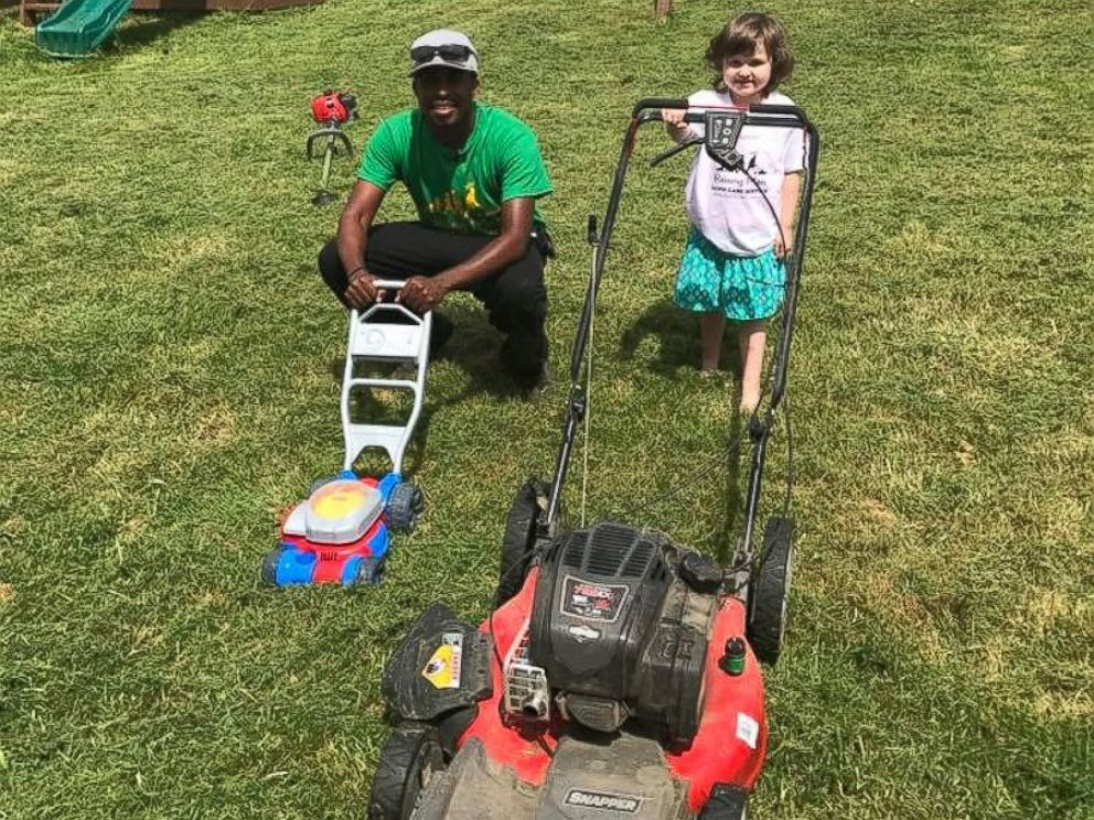 PHOTO: Raising Men Lawn Care Service mows lawns for free for elderly and disabled people as well as veterans and single moms.