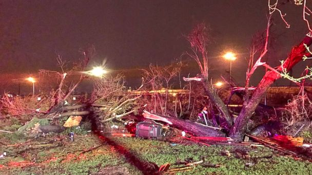 PHOTO: The aftermath of severe storms is seen here in San Antonio, Texas, Feb. 20, 2017.