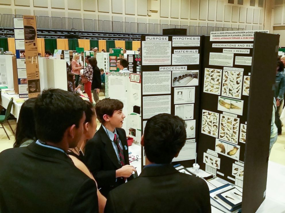 PHOTO: Stephen Litt, 12, won multiple awards at this years Georgia Science and Engineering Fair for his cancer-related science fair project.