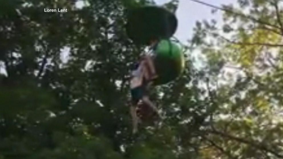 Man catches teen falling from park ride: 'It's OK let go!'