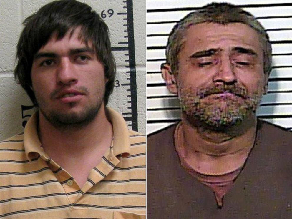PHOTO: Matthew Ryan Wallace, 27, left, and Charles Edward Martin, 50, were both arrested for arson on separate incidents in connection with wildfires in Tennessee.