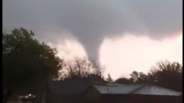 PHOTO: A Tornado touches down in the north Texas town of Stamford.