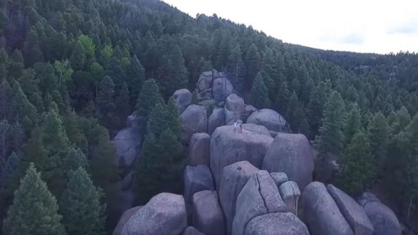 PHOTO: A screen grab from UAV footage taken June 15, 2017 Devil's Head Search Mission posted by Douglas County Search and Rescue in Colorado.
