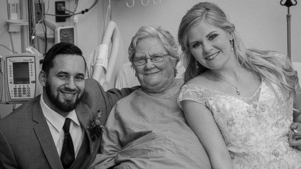 PHOTO: Jessica and Tyler Brown visited Jessica Brown's grandmother in a Jacksonville, Florida, hospital after their March, 25, 2017, wedding.
