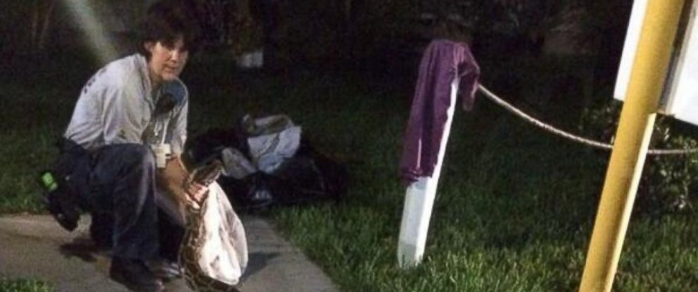 PHOTO: Florida residents captured a 12-foot python in a barbecue grill on July 3, 2014.