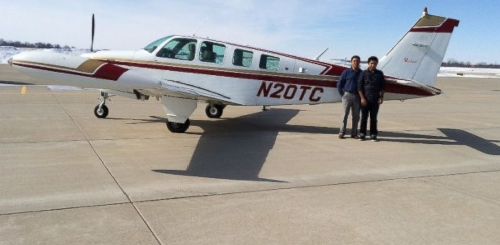PHOTO: A GoFundMe fundraiser was established to help Haris Suleman and Babar Sulemani fly around the world in 30 days.