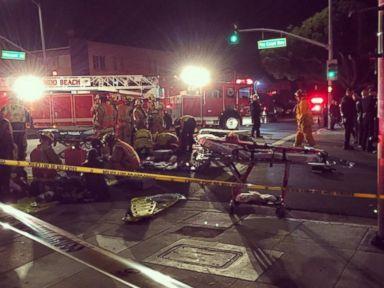PHOTO: Emergency crews visit the scene of an accident in Redondo Beach, California, Dec. 17, 2014.