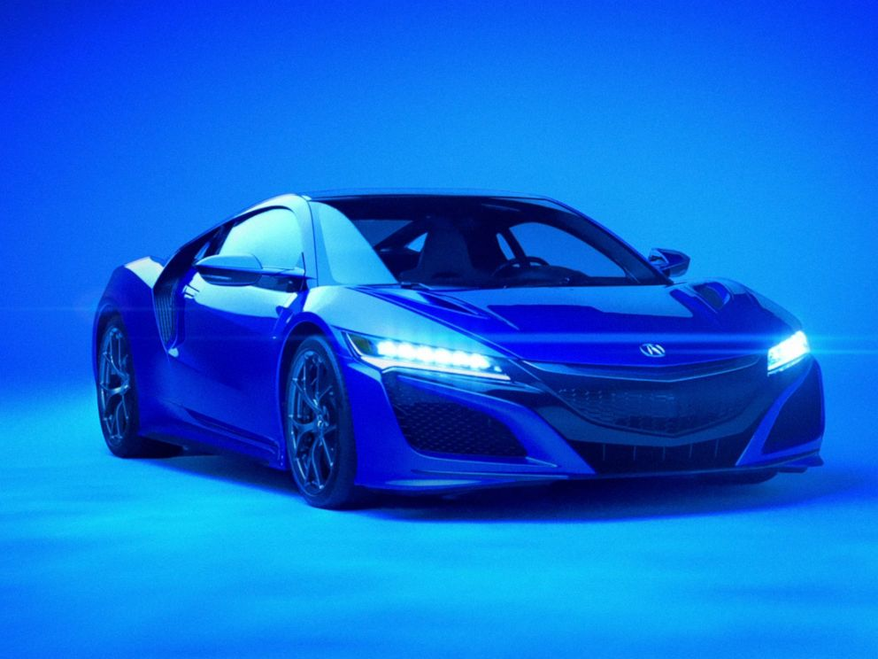 PHOTO: Behind-the-scenes at the Acura NSX Super Bowl 50 commercial shoot.