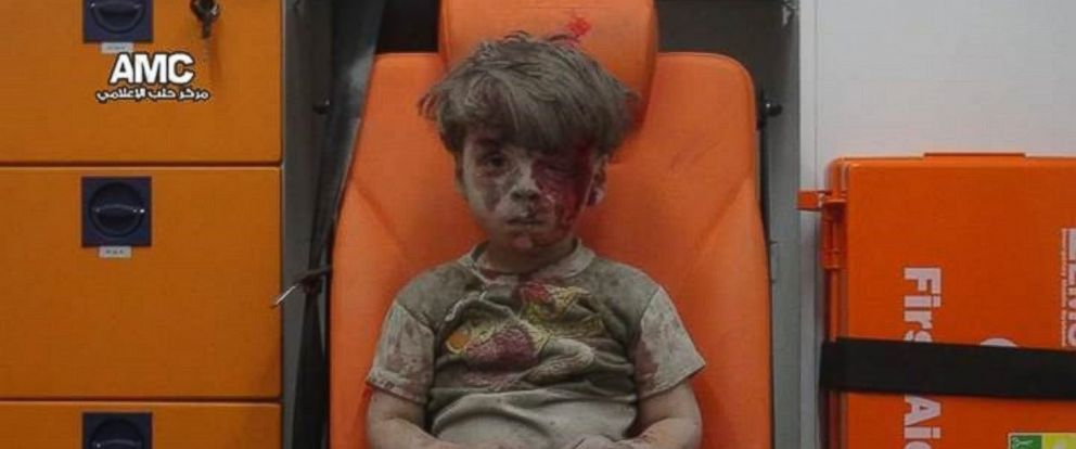 PHOTO: A photo released by the Aleppo Media Center on Aug. 17, 2016 shows 5 year-old Omran, a young boy who was in a building struck by an airstrike in Aleppo, Syria.
