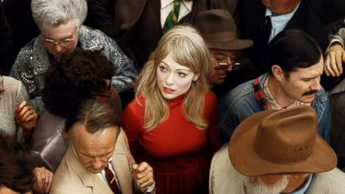 PHOTO: Alex Prager, Crowd #2 (Emma), 2012. Archival 6. pigment print, 59 x 80.7 inches. Courtesy of the artist, Lehmann Maupin, New York and Hong Kong, Yancey Richardson Gallery, New York and M+B Gallery, Los Angeles.