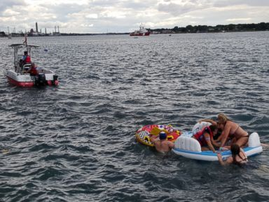 PHOTO: Crew members aboard several Canadian Coast Guard fast rescue crafts provided a significant amount of on-water emergency assistance during this years Port Huron Michigan Float Down Event on Aug. 21 2016 on the St. Clair River.