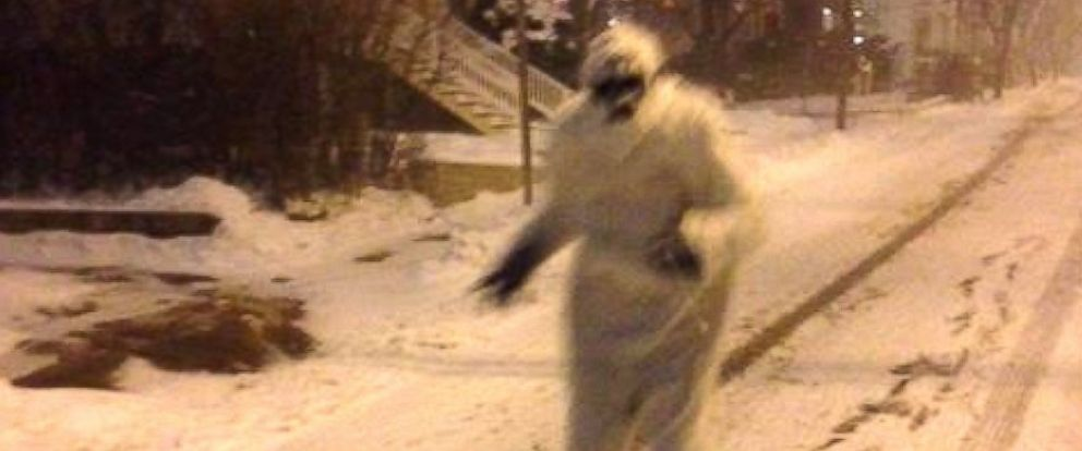 PHOTO: The Boston Yeti is seen in Somerville, Massachusetts, Jan. 26, 2015.