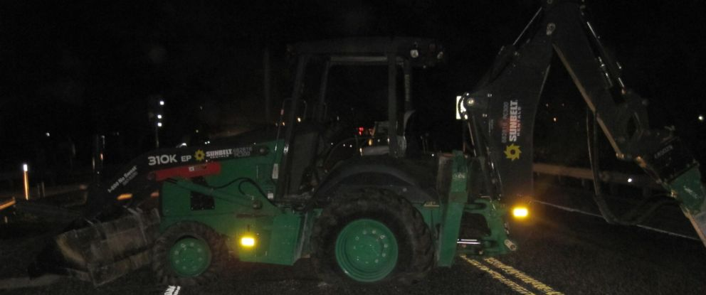 PHOTO: A man took a backhoe from a construction site in the Florida Keys and drove across the Seven Mile Bridge for over an hour before he was stopped by police.
