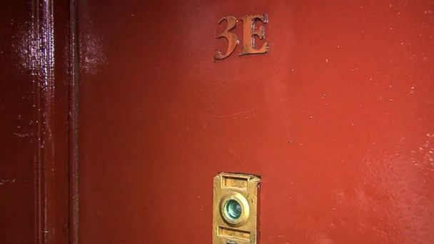 PHOTO: The door of a Bronx apartment where a woman said she was attacked by a stranger.