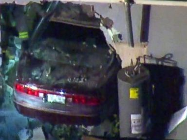PHOTO: One person was killed and eight others were injured after a car crashed into a Los Angeles home that was holding a prayer meeting on July 27, 2016.