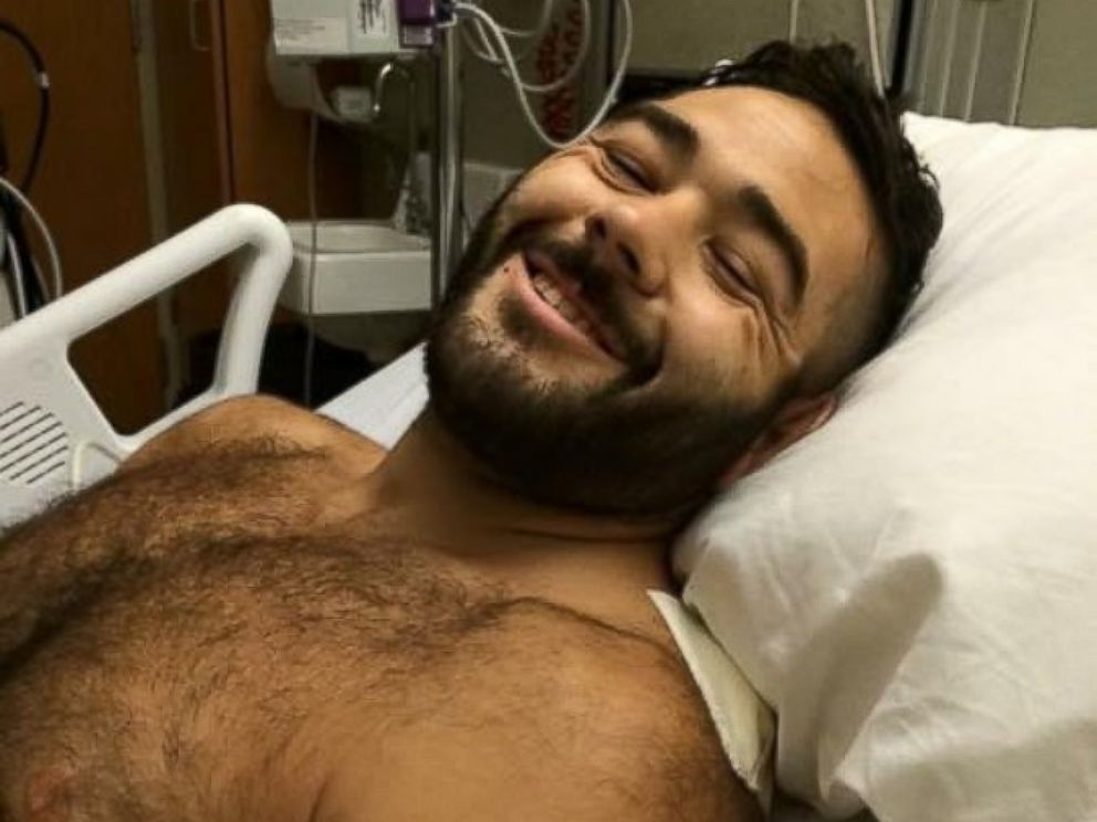 PHOTO: Chris Mintz was injured in a mass shooting at Umpqua Community College in Roseburg, Ore., Oct. 1, 2015.