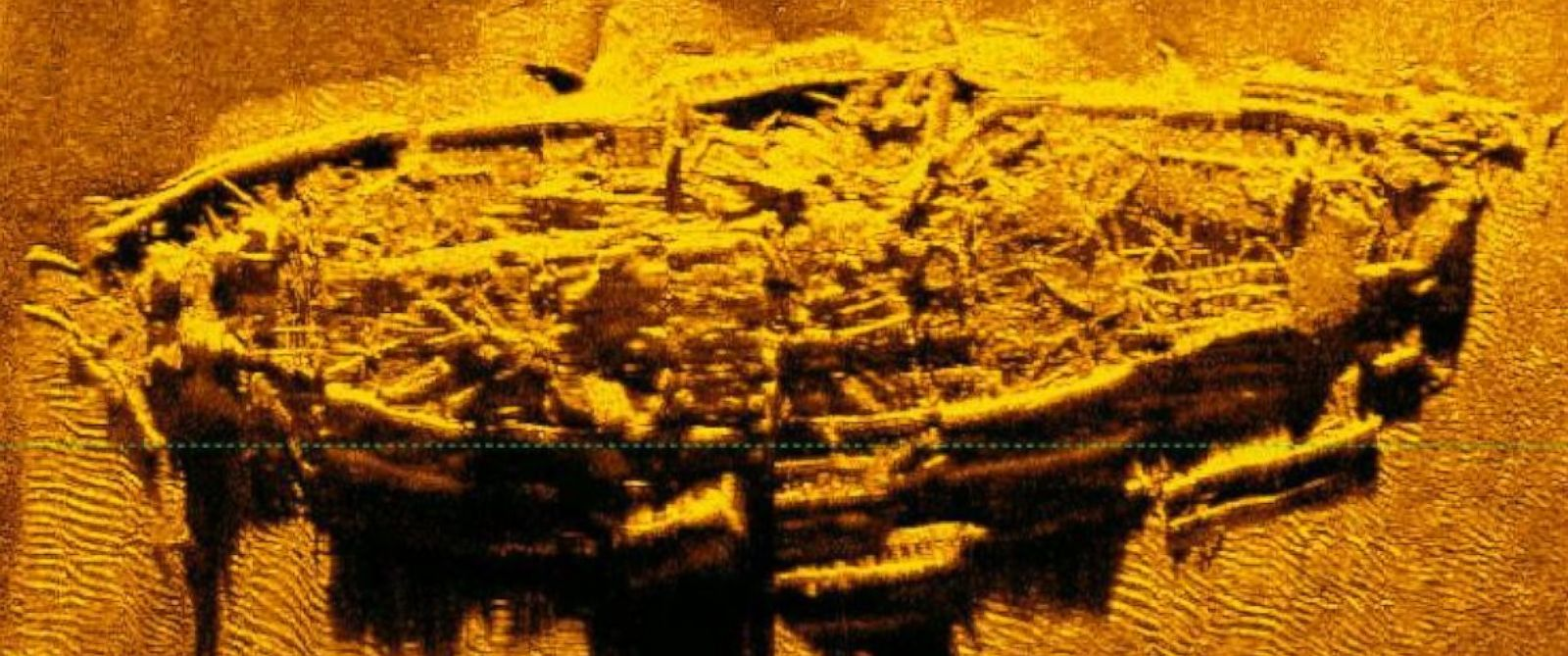 PHOTO: On Feb. 27, 2016, researchers and archaeologists of the North Carolina Office of State Archaeology and the Institute of International Maritime Research discovered what they believe is the shipwreck of a blockade runner from the Civil War.