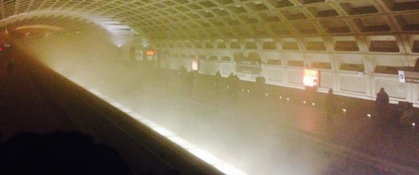 "LesleyJLopez posted this photo to Twitter, writing, ""Evacuated from lefant station #unsuckmetro #wmata"" on Jan. 12, 2015."
