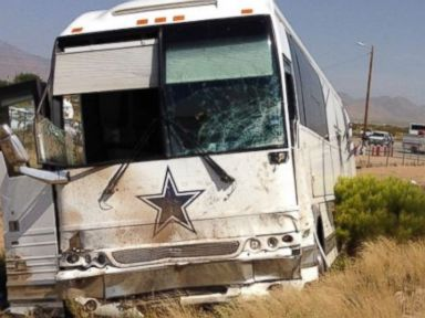 4 Dead After Dallas Cowboys Bus Collides with Van
