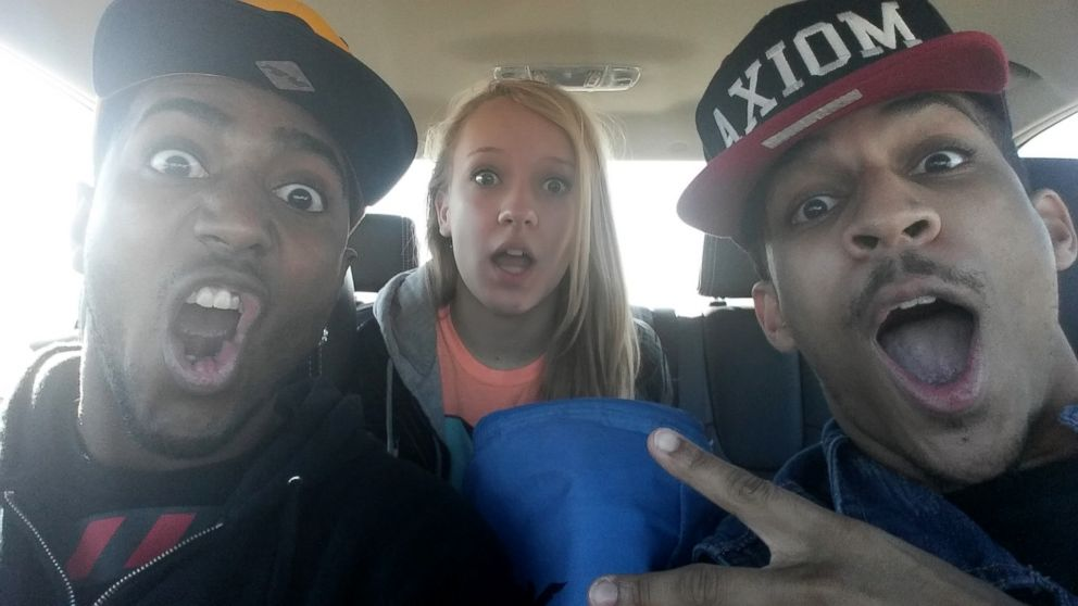 PHOTO: Houston police took Landry Thompson (center), 13, of Tulsa, Okla., from her dance instructor Emmanuel Hurd (left) and dance partner Josiah Kelly (right) and to Child Protective Services on Dec. 1, 2013, in Houston, Tex.