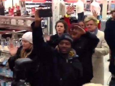 PHOTO: Protesters visited Wal-Mart and Target stores in the St. Louis area, Nov. 27-28, 2014.