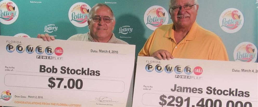 PHOTO: This photo from the Florida Lottery shows James Stocklas of Pennsylvania, who won the March 2, 2016, Powerball jackpot worth $291 million. His brother Bob Stocklas won $7 from the same drawing.