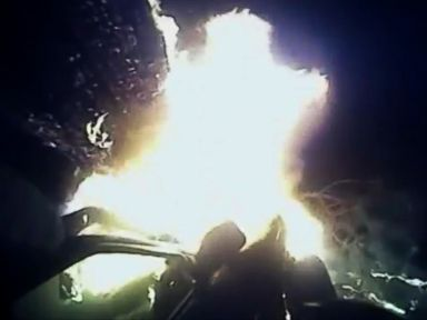 PHOTO: Georgia police have released body-cam footage of an officer risking his own life to save a passenger from a fiery SUV wreck minutes before an explosion.