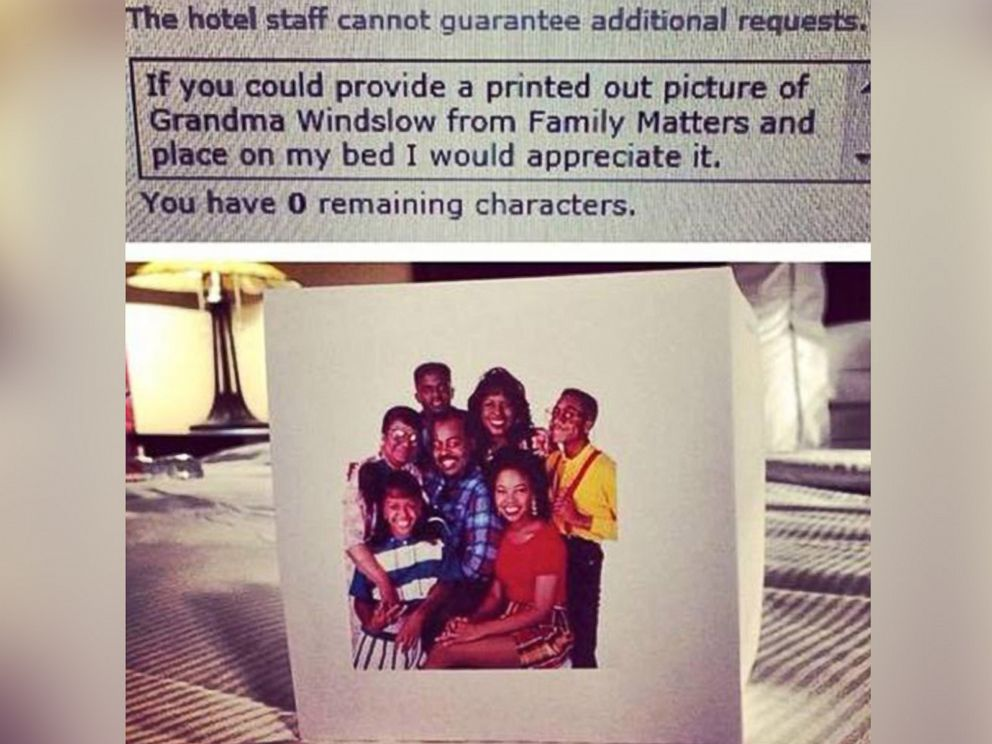 PHOTO: Sean Fitzsimons, a 28-year-old from Denver who travels to Utah every other week for business, said he likes to sometimes make weird, hilarious additional hotel requests to make hotel staff laugh.