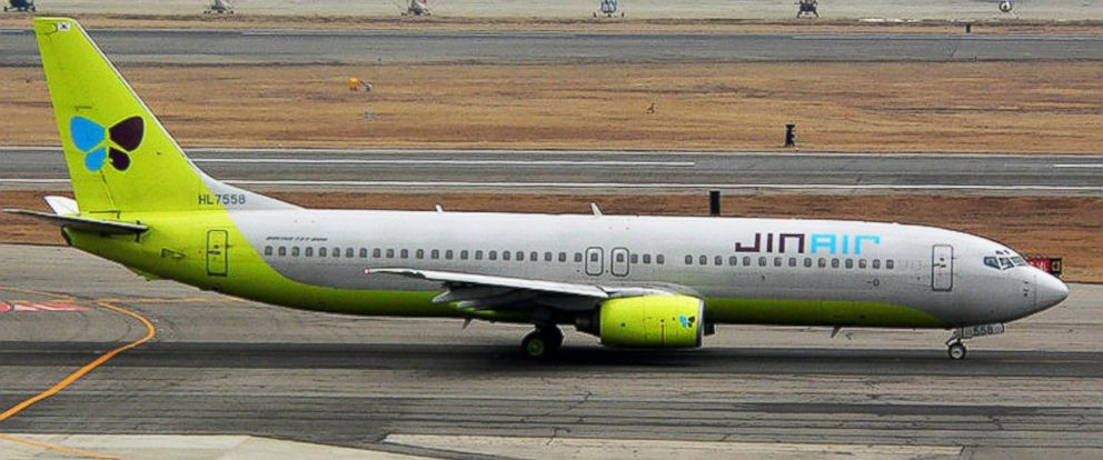 PHOTO: An undated file photo of a Jin Air Boeing 787-800 plane.