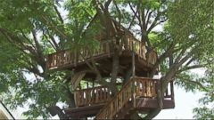 PHOTO: The fate of a treehouse built in memory of a father of two who died in a surfing accident is in question after Orange County issued code violations against the structure.