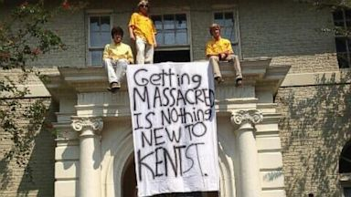 PHOTO: A banner outside the Delta Kappa Epsilon fraternity house
