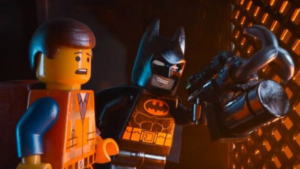 PHOTO: Emmet, voiced by Chris Pratt, left, and Batman, voiced by Will Arnett, in a scene from